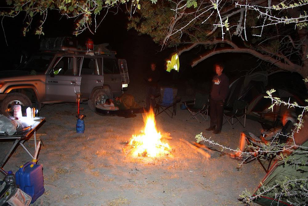 Bush camping in the Okavango.
