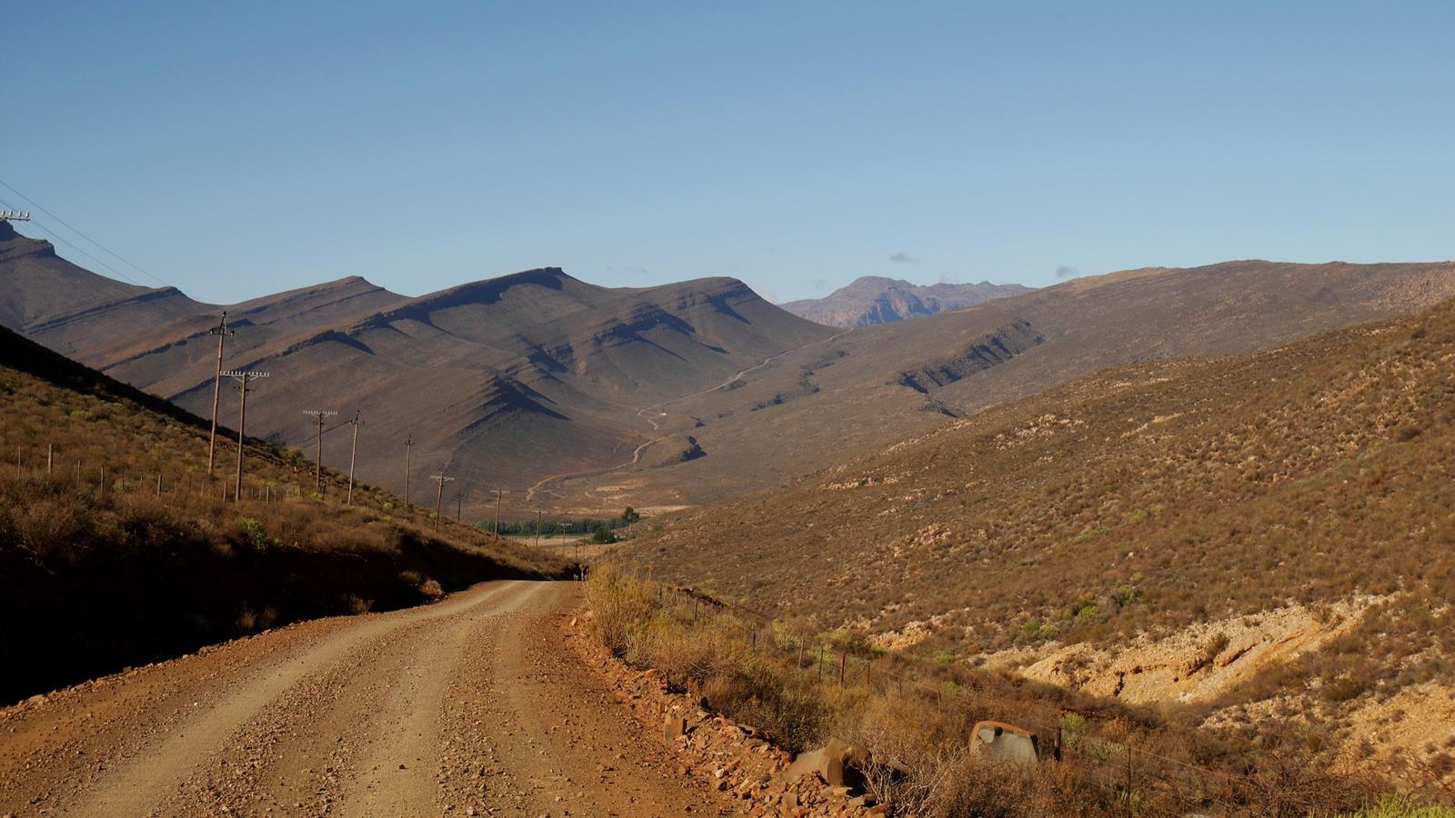 Driving off the beaten track into the Cederberg Wilderness.