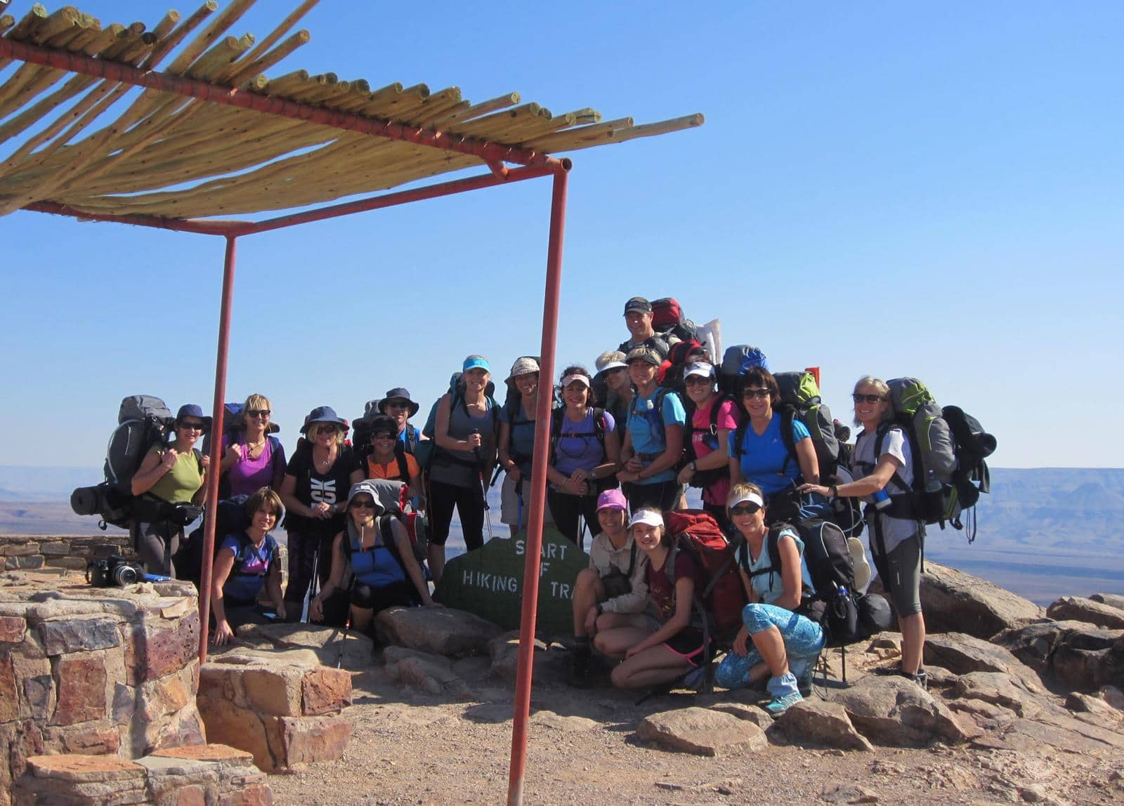 Our group at the starting point.