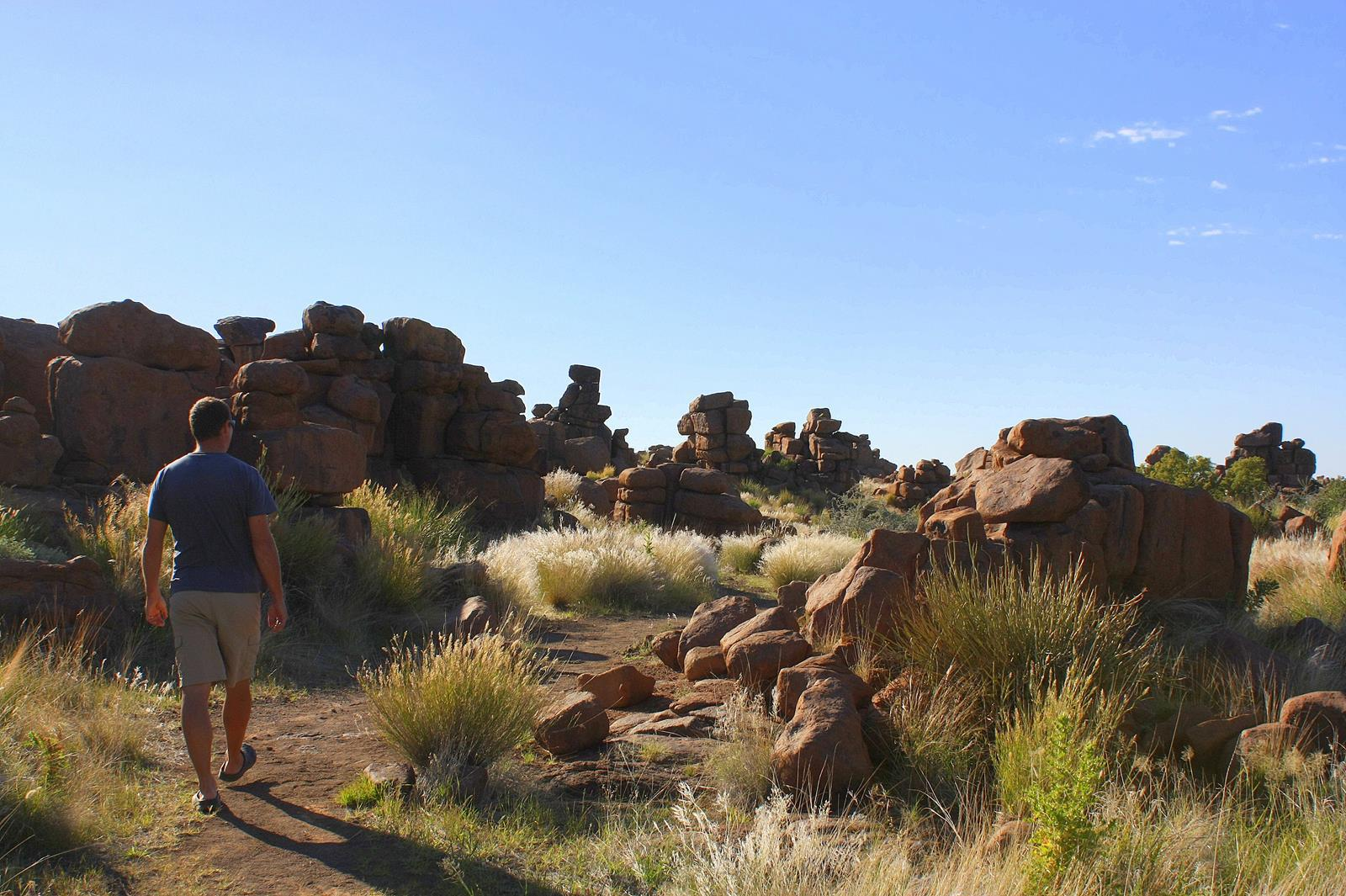 The boulders at Giant's Playground.