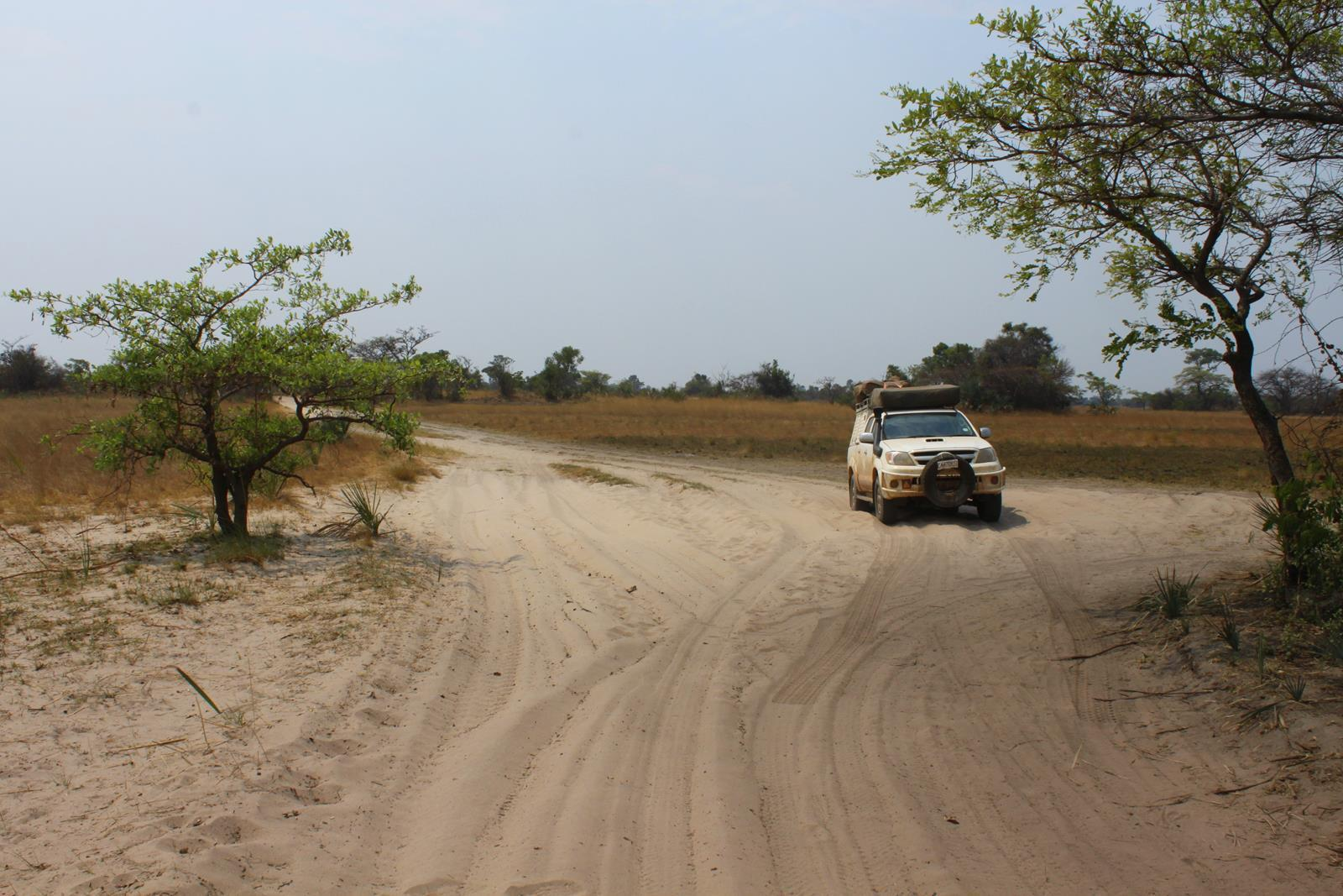Deep sand on the Luena Flats.