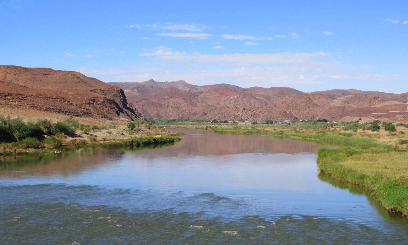 The Gariep River forms the border between South Africa and Namibia.