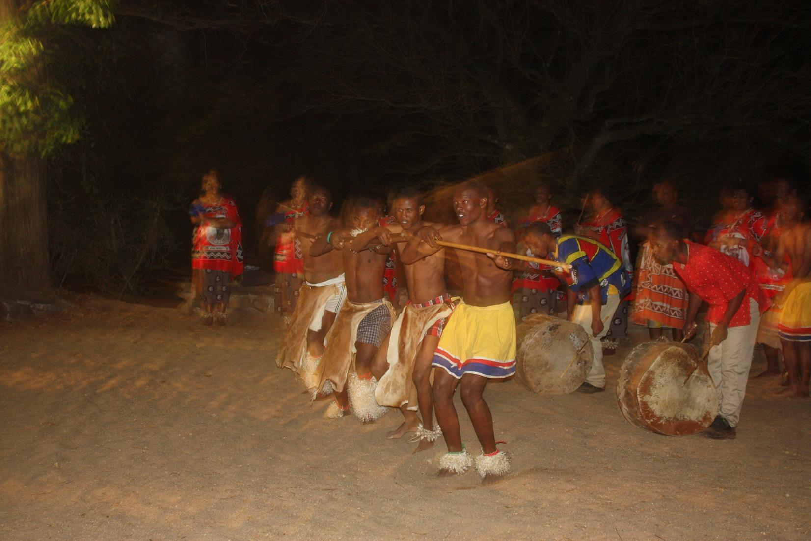 Swazi dancing at Mlilwane.