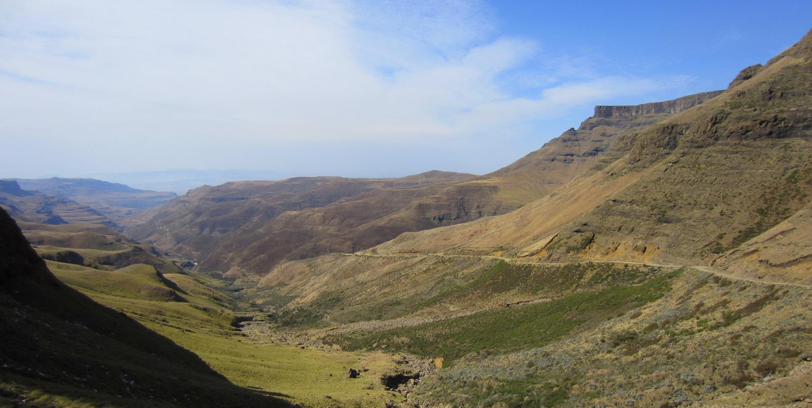 Looking back to the valleys below the pass.