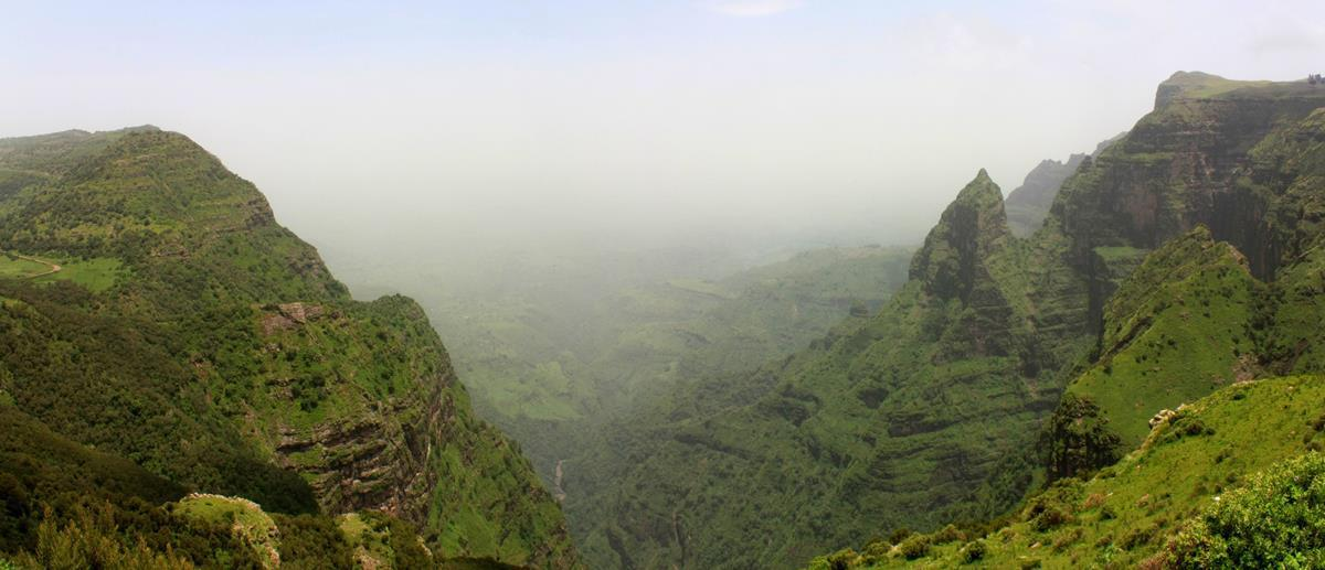 The sharp peaks of the Simien Mountains are awe-inspiring.