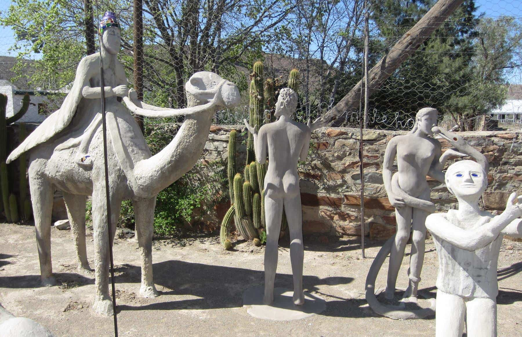 The garden is filled with hundreds of sculptures.