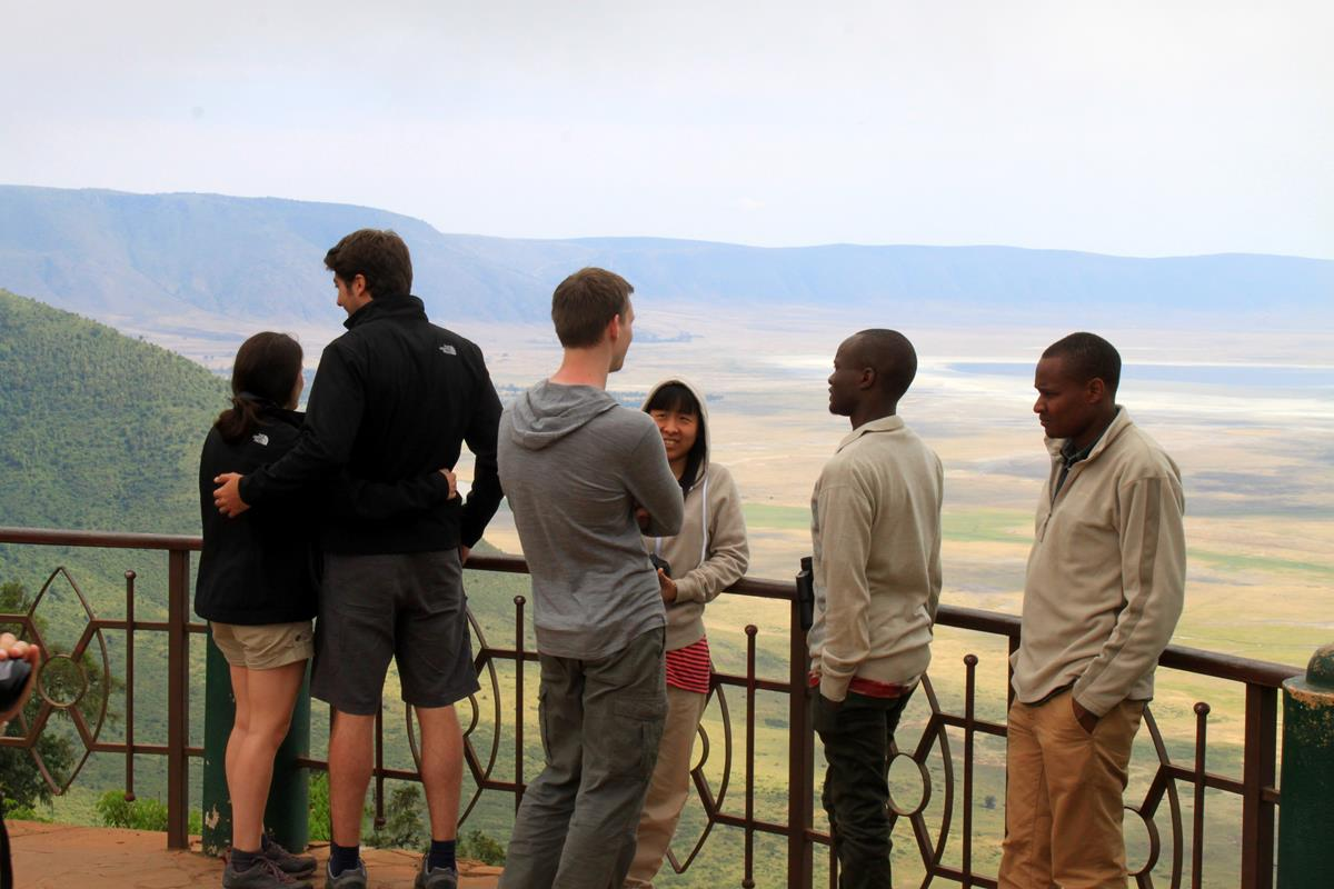 Viewpoint over the Ngorogoro Crater.