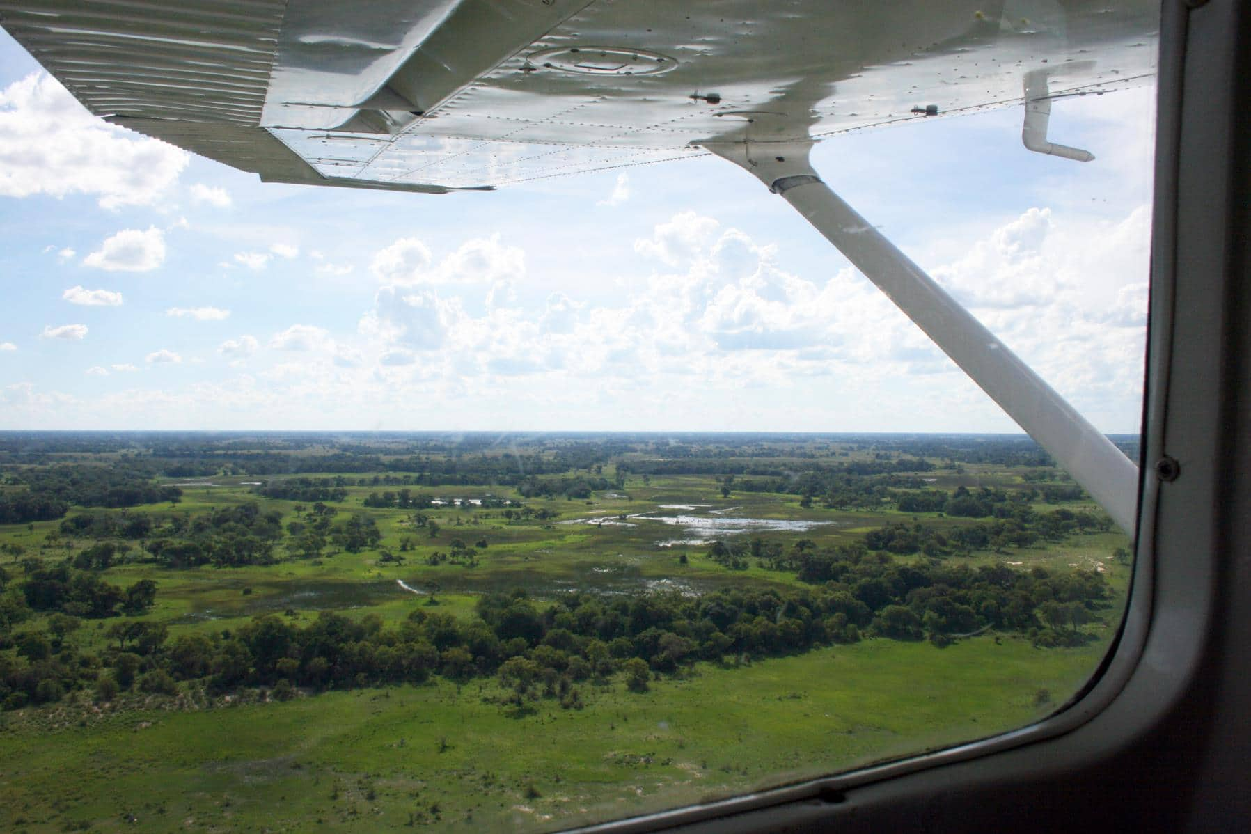 It is an amazing experience to fly over the Okavango Delta. (Photo: Lindy Lourens)