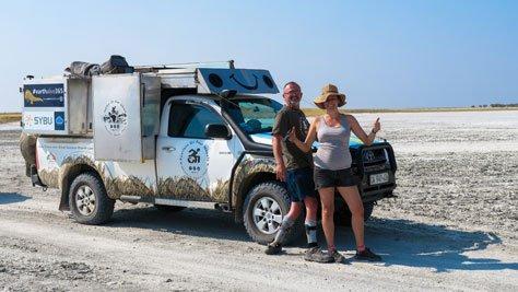 Louis and Kareen Broodryk at Khubu island