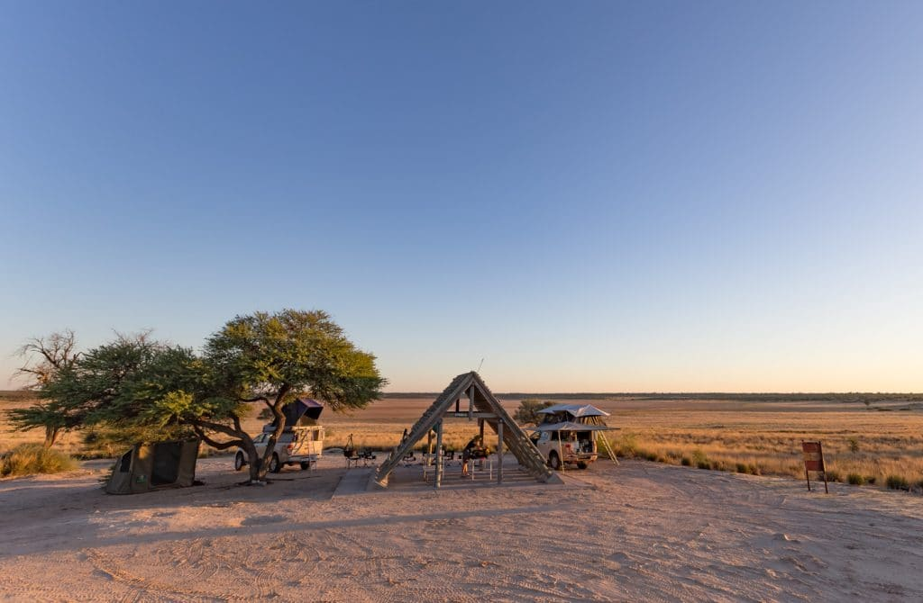 Camping in Mabuasehube