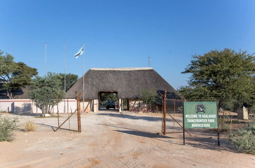 Entrance to Mabuasehube