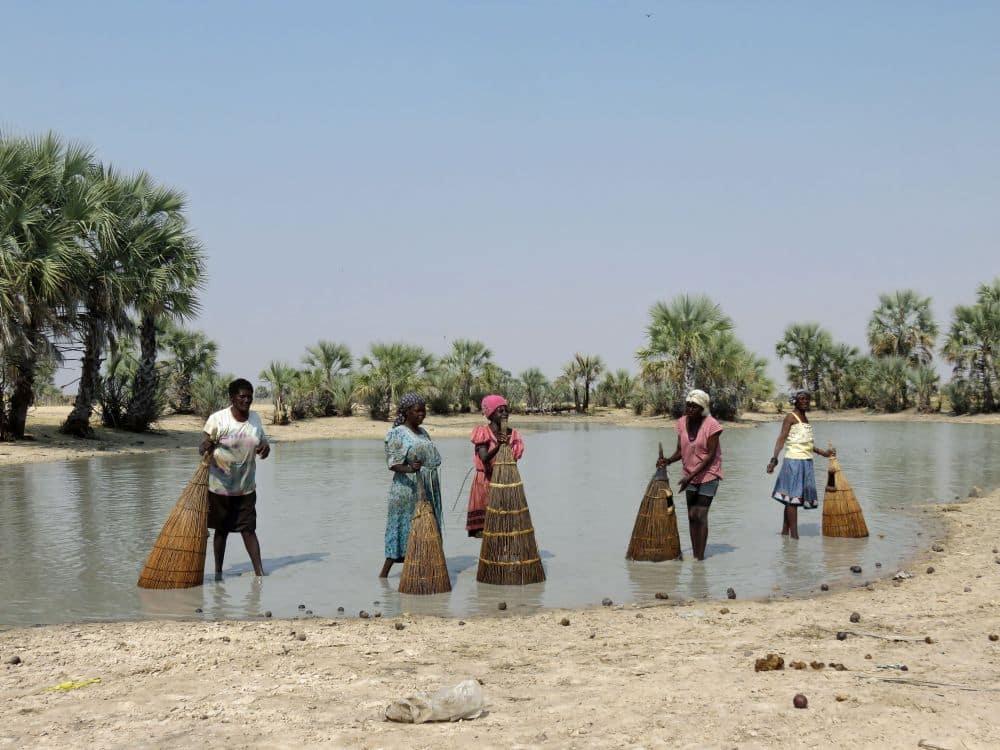 Ovambo women fishing the old-fashioned way