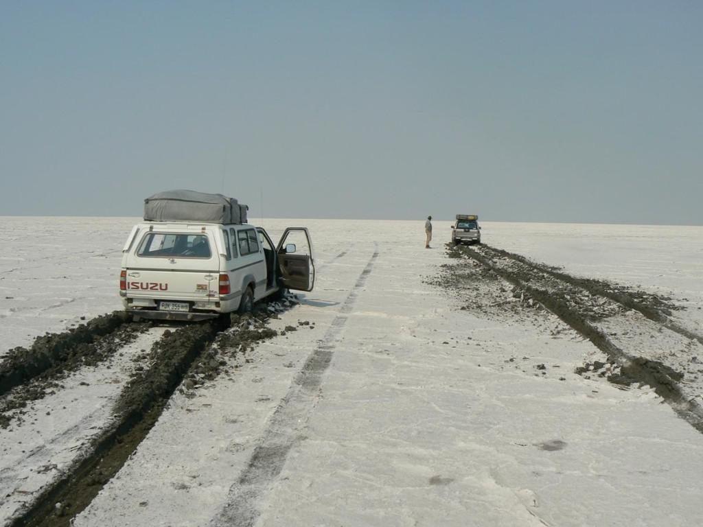 The sludgy Makgadikgadi Pans